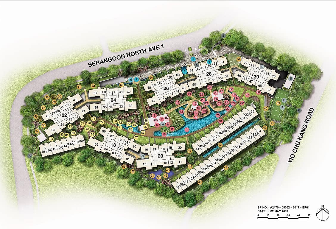 affinity at serangoon site map